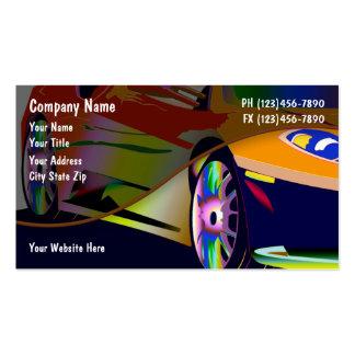 Cartes de visite des véhicules à moteur carte de visite standard