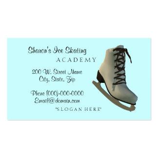 Cartes de visite d'instructeur de patinage artisti modèles de cartes de visite