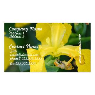 Cartes de visite d'iris jaune cartes de visite personnelles