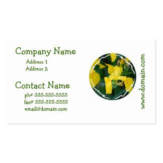 Cartes de visite d'iris jaune carte de visite