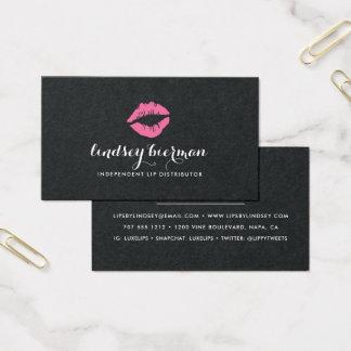Cartes De Visite Distributeur lumineux de produit de lèvre du