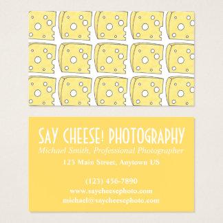 Cartes De Visite Dites le fromage suisse de photographie de