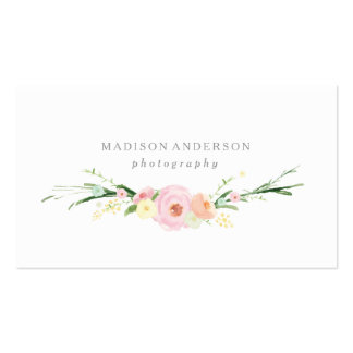 Cartes de visite du bouquet | d'aquarelle carte de visite standard
