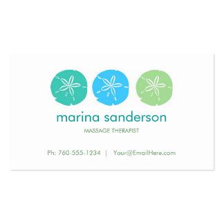 Cartes de visite du dollar de sable de sauge et modèles de cartes de visite