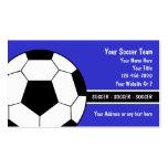 Cartes de visite du football modèles de cartes de visite