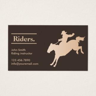 Cartes De Visite Équitation de cowboy