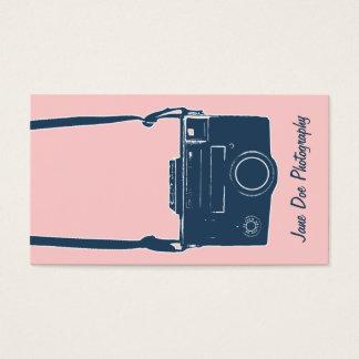 Cartes De Visite Film antique rose de photographie d'appareil-photo