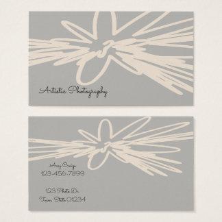 Cartes de visite floraux artistiques