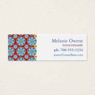 Cartes de visite floraux de mosaïque
