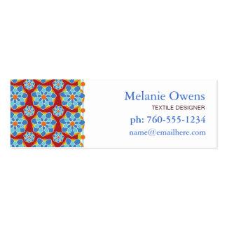 Cartes de visite floraux de mosaïque cartes de visite professionnelles