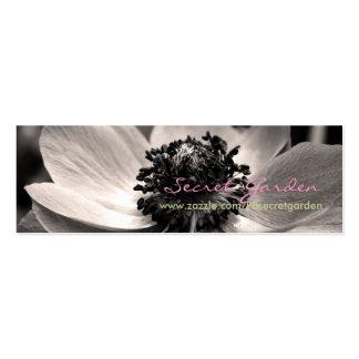 Cartes de visite floraux de photographie de carte de visite petit format