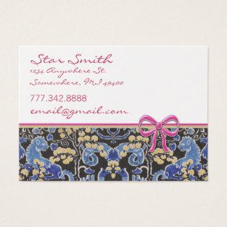 Cartes De Visite Framboise bronzage bleue de poster de animal