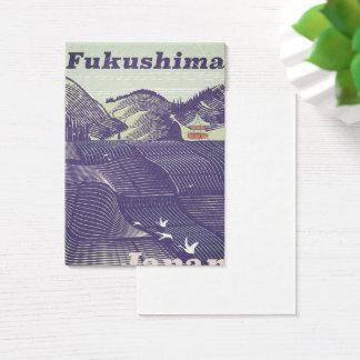 Cartes De Visite Fukushima, affiche vintage japonaise de voyage