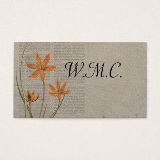 Cartes De Visite Journal de fleurs
