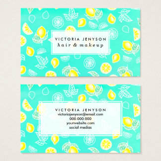 Cartes De Visite Les fruits modernes de citrons de jaune