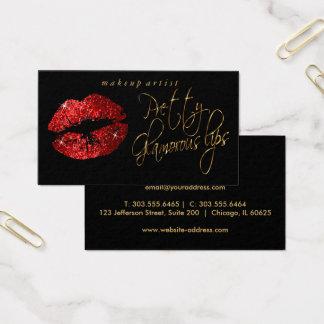 Cartes De Visite Lèvres assez fascinantes - scintillement rouge et