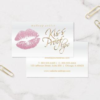 Cartes De Visite Lèvres de preuve de baiser - parties scintillantes