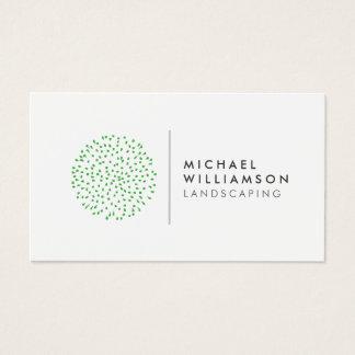Cartes De Visite Logo de aménagement de jardinier moderne sur le