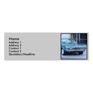 Cartes de visite maigres d'automobile bleue de pum carte de visite petit format