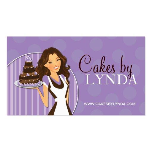 Cartes de visite mignons et doux de boulangerie modèles de cartes de visite