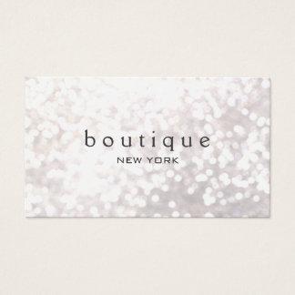 Cartes De Visite Mode moderne et beauté de scintillement blanc de