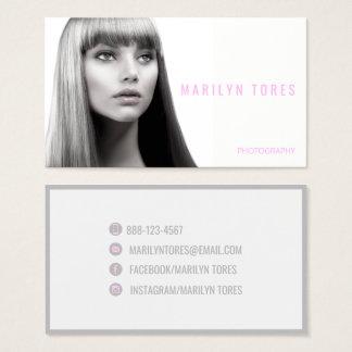 Cartes De Visite ★ moderne de Headshot de Photographe-Styliste en