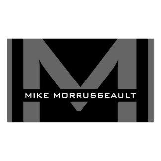 Cartes de visite modernes de monogramme cartes de visite personnelles
