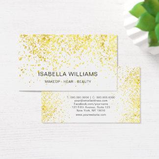 Cartes De Visite Motif de luxe de parties scintillantes d'or