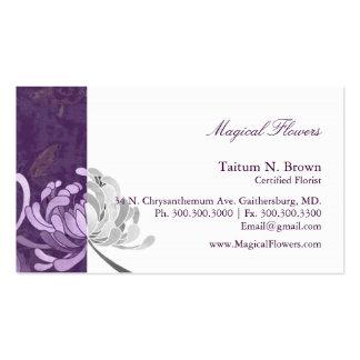 Cartes de visite personnels de fleur monotone carte de visite standard