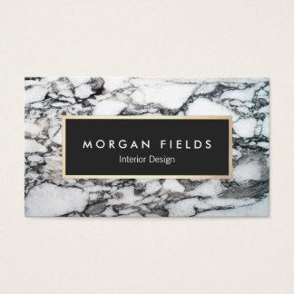 Cartes De Visite Pierre de marbre noire et blanche de concepteur