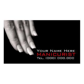 Cartes de visite pour des salons de clou carte de visite standard