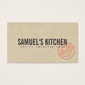 Cartes De Visite Regard moderne rustique de papier d'emballage de