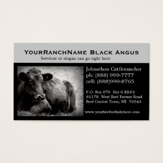 Cartes de visite relatifs de bétail ou de boeuf