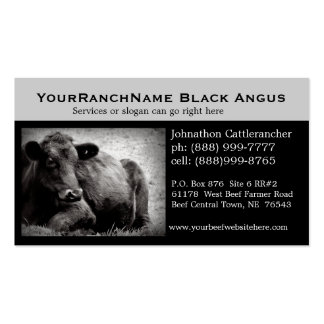 Cartes de visite relatifs de bétail ou de boeuf carte de visite standard