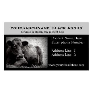 Cartes de visite relatifs de bétail ou de boeuf cartes de visite personnelles