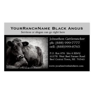 Cartes de visite relatifs de bétail ou de boeuf modèles de cartes de visite