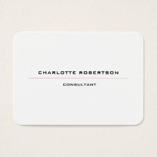 Cartes De Visite Rouge blanc noir spécial minimaliste simple