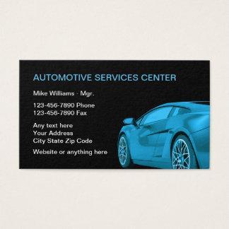 Cartes De Visite Services aux entreprises des véhicules à moteur