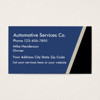 Cartes De Visite Services des véhicules à moteur Businesscards