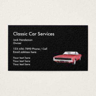Cartes De Visite Services et restauration classiques de voiture