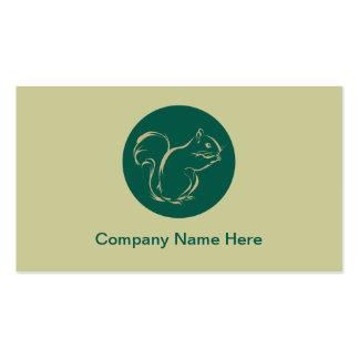 Cartes de visite simples d'écureuil carte de visite standard