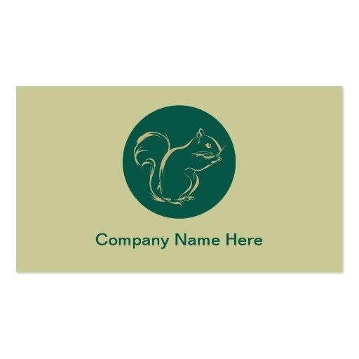 Cartes de visite simples d'écureuil cartes de visite personnelles