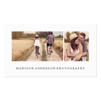 Cartes de visite simples et propres de photographi carte de visite standard