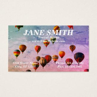 Cartes De Visite Thème chaud coloré de voyage de ballon à air