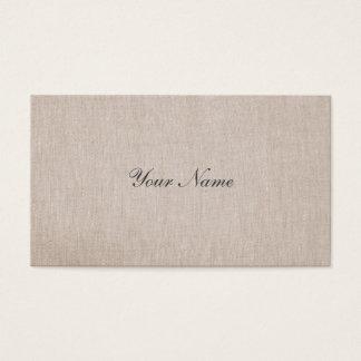 Cartes De Visite Toile beige bronzage simple de Minimalistic