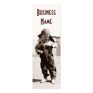Cartes de visite vintages de signet de garçon de c cartes de visite professionnelles