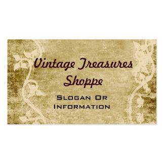 Cartes de visite vintages de vignes cartes de visite personnelles