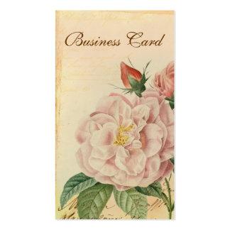 Cartes de visite vintages français de rose de rose modèle de carte de visite