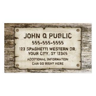 Cartes de visite vintages occidentaux cartes de visite professionnelles