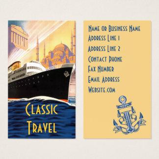Cartes De Visite Voyage classique de bateau de croisière